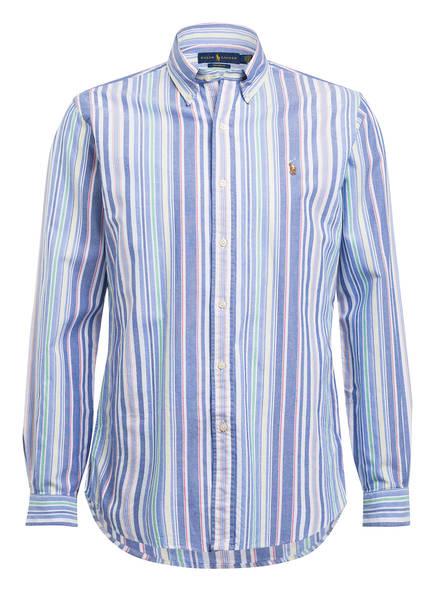 POLO RALPH LAUREN Hemd Custom Fit, Farbe: WEISS/ HELLBLAU/ GELB GESTREIFT (Bild 1)