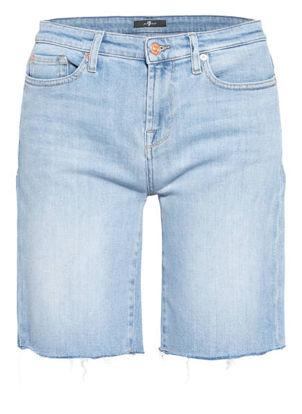 7 for all mankind Jeans-Shorts EASY, Farbe: BLURRED LIGHT BLUE (Bild 1)