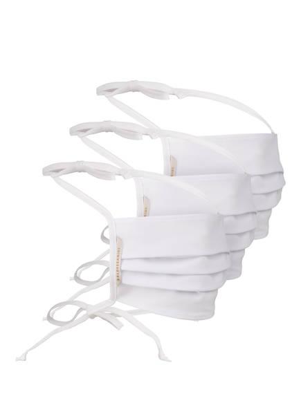 BALDESSARINI 3er-Set Mund- und Nasenmasken, Farbe: WEISS (Bild 1)