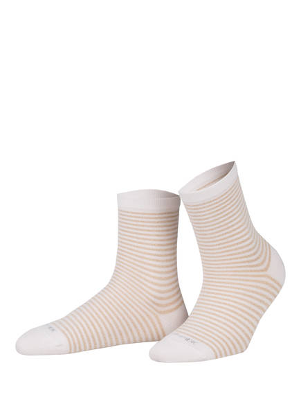 Burlington Socken LADYWELL RINGLET mit Glitzergarn, Farbe: 2000 WHITE (Bild 1)