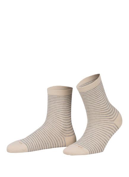 Burlington Socken LADYWELL RINGLET mit Glitzergarn, Farbe: 4840 GRAVEL (Bild 1)