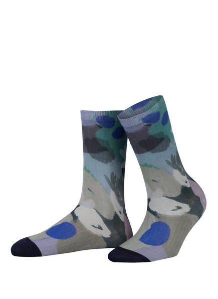 Burlington Socken PAINTED FLOWER, Farbe: 6893 MINT (Bild 1)