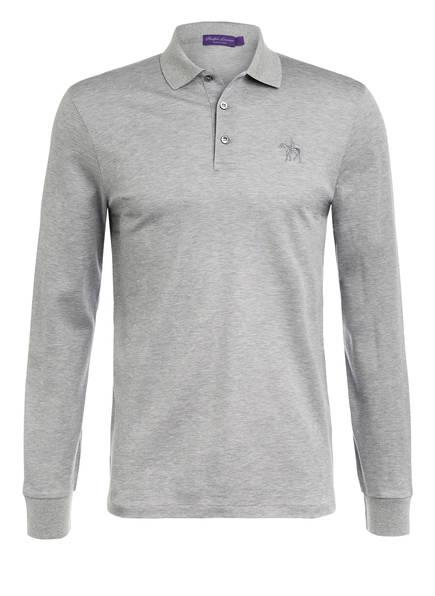 RALPH LAUREN PURPLE LABEL Piqué-Poloshirt Custom Slim Fit, Farbe: HELLGRAU MELIERT (Bild 1)