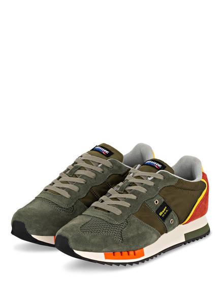 Blauer Sneaker QUEENS, Farbe: OLIV/ DUNKELORANGE/ GELB (Bild 1)