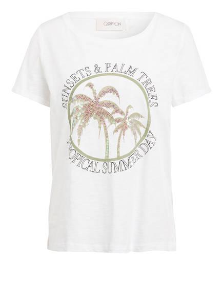 CARTOON T-Shirt mit Paillettenbesatz , Farbe: WEISS (Bild 1)