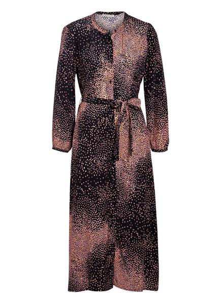 WHISTLES Hemdblusenkleid SCATTERED BLOOM, Farbe: SCHWARZ/ NUDE (Bild 1)