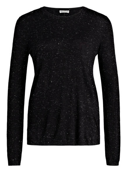 WHISTLES Pullover ANNIE mit Glitzergarn, Farbe: SCHWARZ/ SILBER (Bild 1)