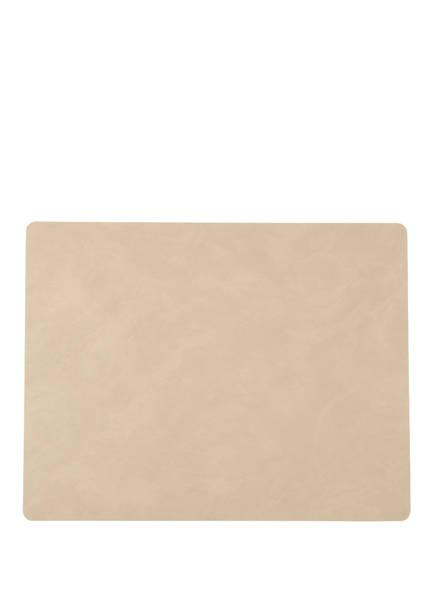 LINDDNA Tischset SQUARE L aus Leder , Farbe: CAMEL (Bild 1)