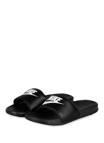 Nike Pantoletten Benassi Just Do It schwarz