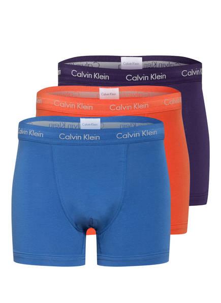 Calvin Klein 3er-Pack Boxershorts COTTON STRETCH , Farbe: BLAU/ LACHS/ DUNKELBLAU (Bild 1)