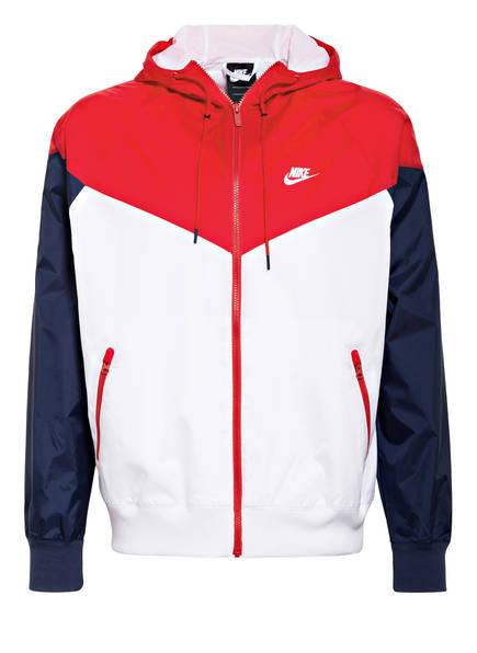 Nike Trainingsjacke WINDRUNNER, Farbe: WEISS/ NAVY/ ROT (Bild 1)