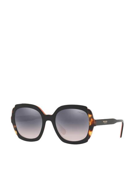 PRADA Sonnenbrille PR 16US, Farbe: 5ZWGR0 - SCHWARZ/ HAVANA/ BLAU VERSPIEGELT (Bild 1)
