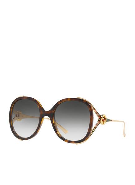 GUCCI Sonnenbrille GC001102, Farbe: 4402J3 - HAVANA/ GOLD/ GRAU VERLAUF (Bild 1)