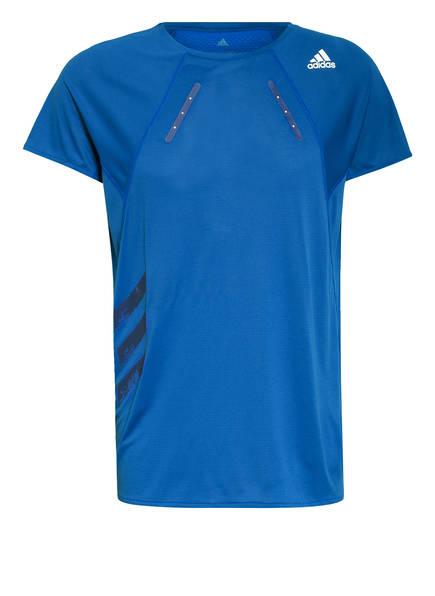 adidas Laufshirt HEAT.RDY, Farbe: BLAU (Bild 1)