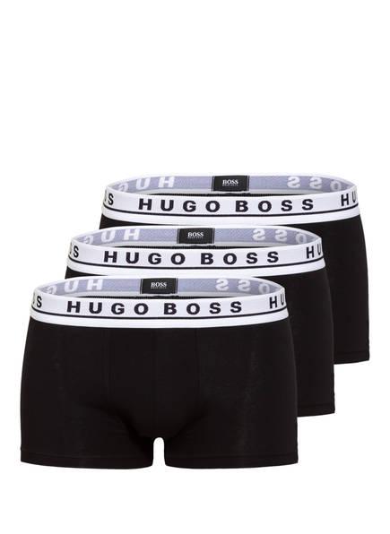 BOSS 3er-Pack Boxershorts, Farbe: SCHWARZ/ BUND WEISS (Bild 1)