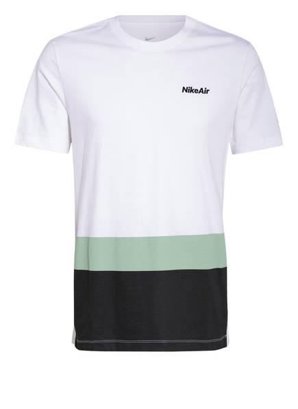Nike T-Shirt AIR, Farbe: WEISS/ SCHWARZ/ HELLGRÜN (Bild 1)
