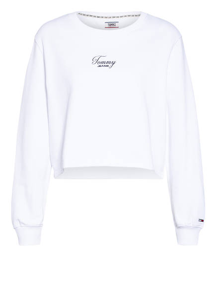 TOMMY JEANS Cropped-Sweatshirt, Farbe: WEISS (Bild 1)