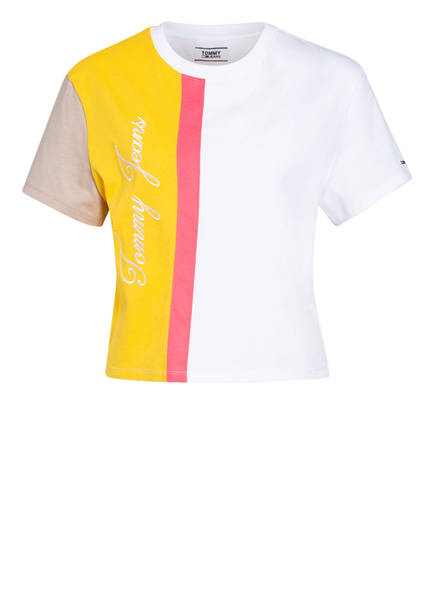 TOMMY JEANS T-Shirt, Farbe: WEISS/ GELB/ HELLROT (Bild 1)