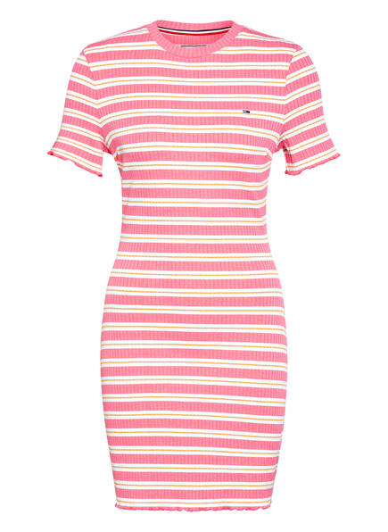 TOMMY JEANS Kleid , Farbe: ROSA/ WEISS/ LACHS (Bild 1)