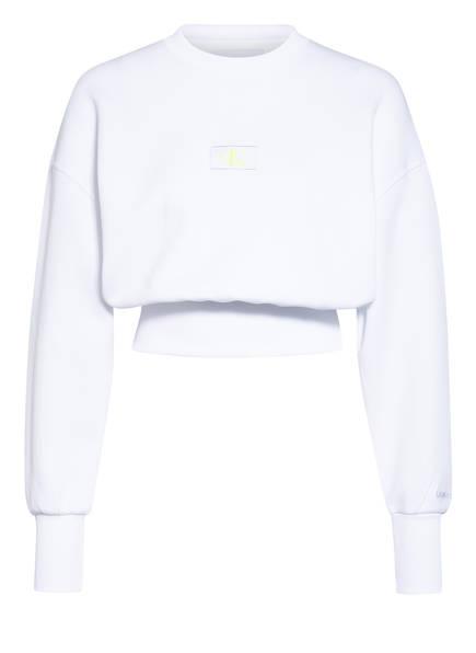 Calvin Klein Jeans Cropped-Sweatshirt, Farbe: WEISS (Bild 1)