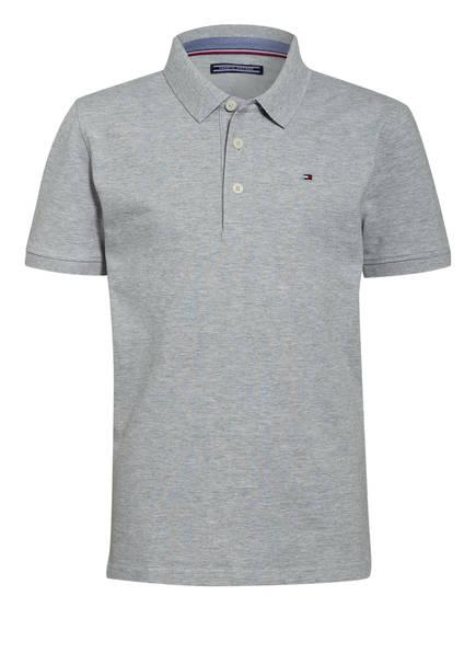 TOMMY HILFIGER Piqué-Poloshirt, Farbe: HELLGRAU MELIERT (Bild 1)