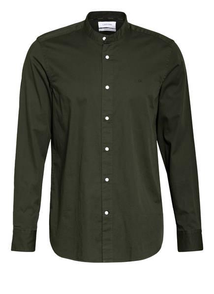 Calvin Klein Hemd Regular Fit mit Stehkragen, Farbe: DUNKELGRÜN (Bild 1)