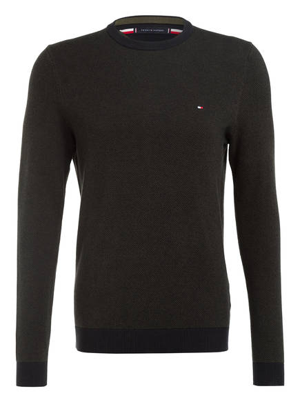 TOMMY HILFIGER Pullover, Farbe: DUNKELGRÜN (Bild 1)