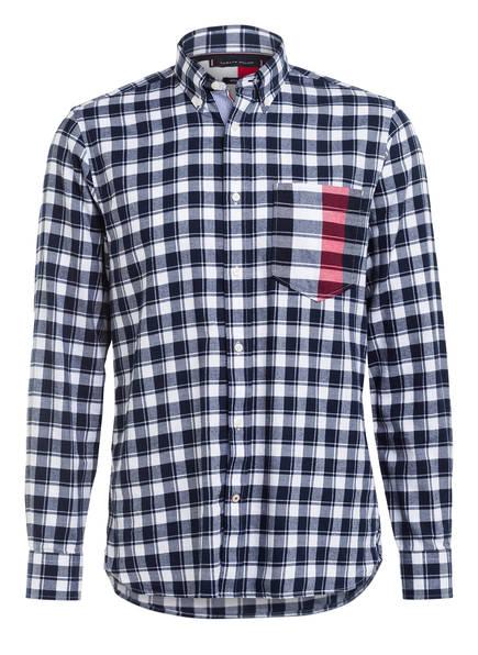 TOMMY HILFIGER Hemd Regular Fit , Farbe: DUNKELBLAU/ WEISS KARIERT (Bild 1)