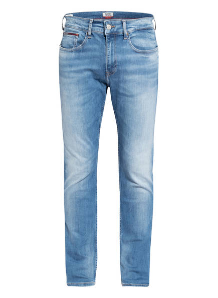 TOMMY JEANS Jeans AUSTIN Tapered Fit , Farbe: 1BK CORRY MID BLUE STRETCH (Bild 1)