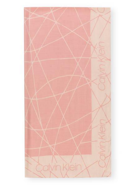 Calvin Klein Schal, Farbe: ROSA/ CREME (Bild 1)