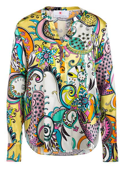 herzensangelegenheit Blusenshirt aus Seide , Farbe: WEISS/ HELLGRÜN/ TÜRKIS (Bild 1)