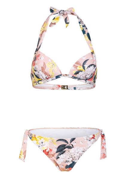 MARYAN MEHLHORN Neckholder-Bikini FIOR , Farbe: NUDE/ GELB/ ROT (Bild 1)