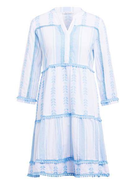 rich&royal Kleid mit 3/4-Arm , Farbe: HELLBLAU/ WEISS (Bild 1)