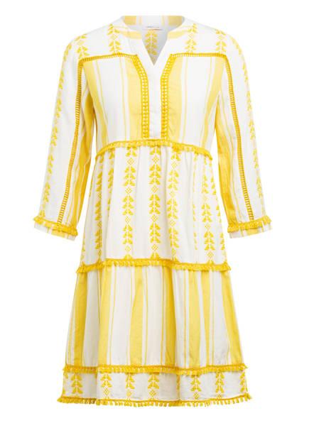 rich&royal Kleid mit 3/4-Arm , Farbe: GELB/ WEISS (Bild 1)