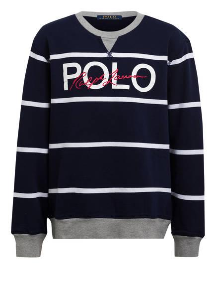 POLO RALPH LAUREN Sweatshirt, Farbe: DUNKELBLAU/ WEISS/ GRAU (Bild 1)