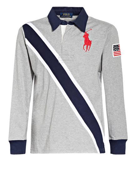 POLO RALPH LAUREN Jersey-Poloshirt, Farbe: GRAU MELIERT (Bild 1)