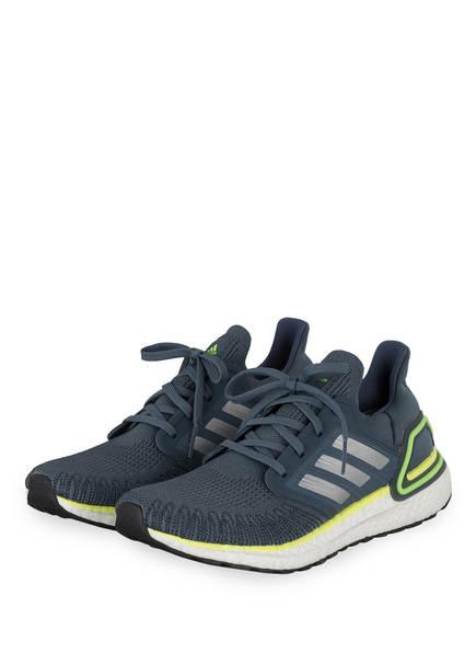 adidas Laufschuhe ULTRABOOST 20, Farbe: GRAU/ NEONGELB (Bild 1)