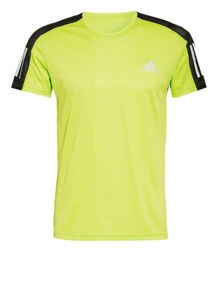 adidas Laufshirt mit Mesh-Einsätzen , Farbe: NEONGRÜN/ SCHWARZ (Bild 1)