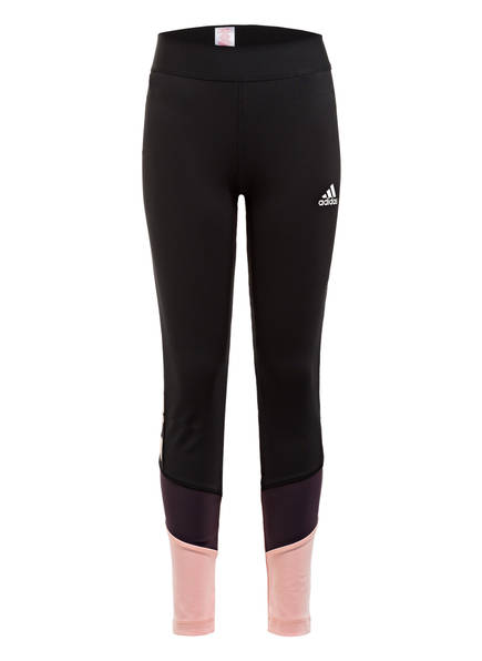 adidas Tights THE FUTURE TODAY, Farbe: SCHWARZ/ HELLORANGE/ DUNKELLILA (Bild 1)