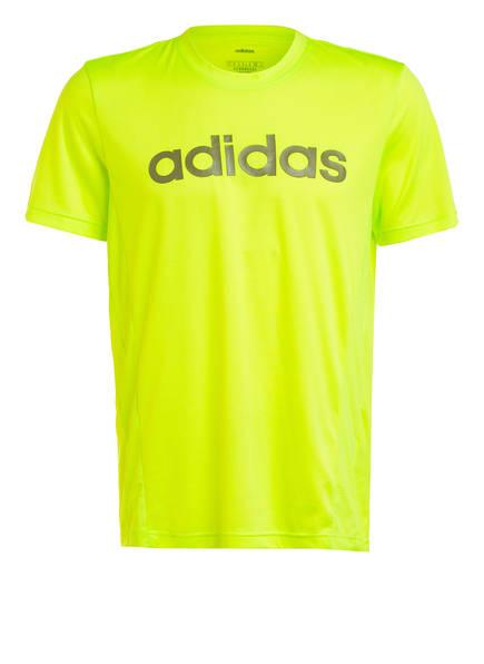adidas T-Shirt D2M, Farbe: NEONGRÜN (Bild 1)