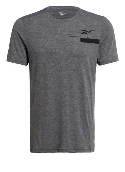Reebok T-Shirt ACTIVCHILL mit Mesh-Rückenteil, Farbe: GRAU MELIERT (Bild 1)