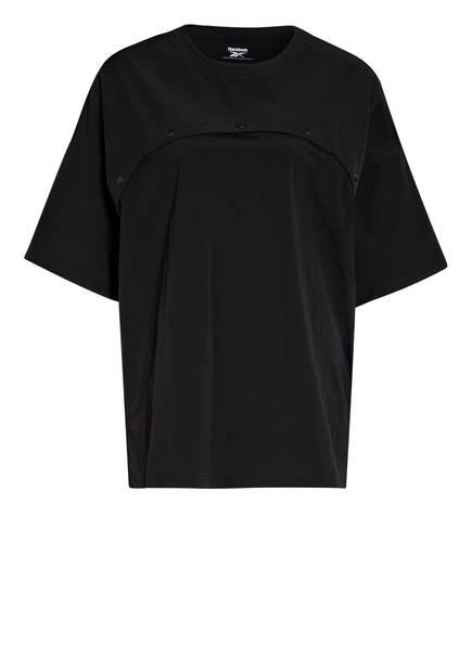 Reebok T-Shirt TWO-IN-ONE, Farbe: SCHWARZ (Bild 1)