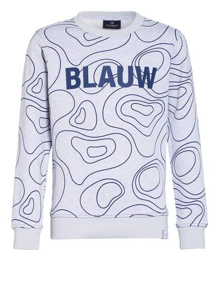 SCOTCH SHRUNK Sweatshirt, Farbe: HELLGRAU MELIERT/ BLAU (Bild 1)