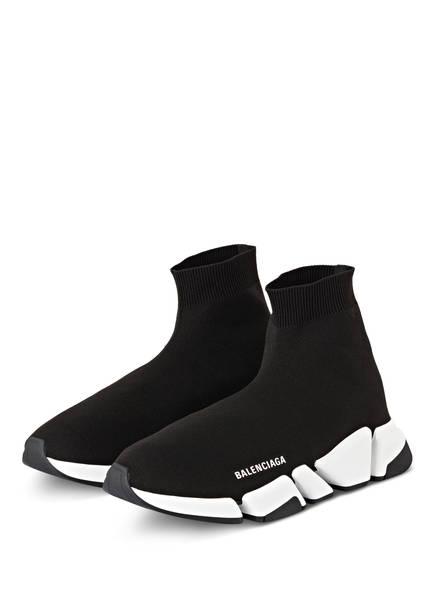 BALENCIAGA Hightop-Sneaker SPEED 2.0, Farbe: SCHWARZ/ WEISS (Bild 1)