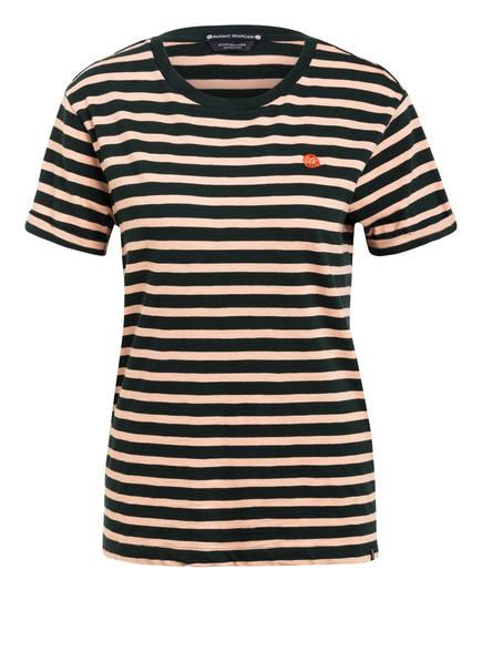 SCOTCH & SODA T-Shirt, Farbe: DUNKELGRÜN/ NUDE GESTREIFT (Bild 1)