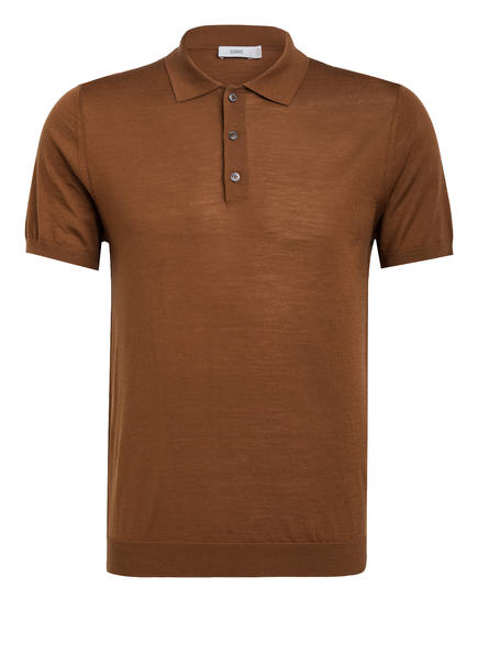 CLOSED Strick-Poloshirt, Farbe: BRAUN (Bild 1)