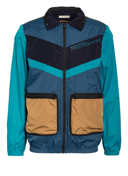 SCOTCH & SODA Windbreaker CLUB NOMADE, Farbe: BLAU/ DUNKELBLAU/ PETROL (Bild 1)