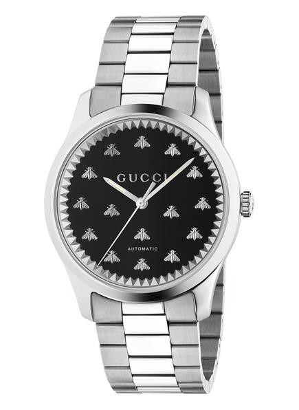 GUCCI Armbanduhr G-TIMELESS, Farbe: SILBER/ SCHWARZ (Bild 1)