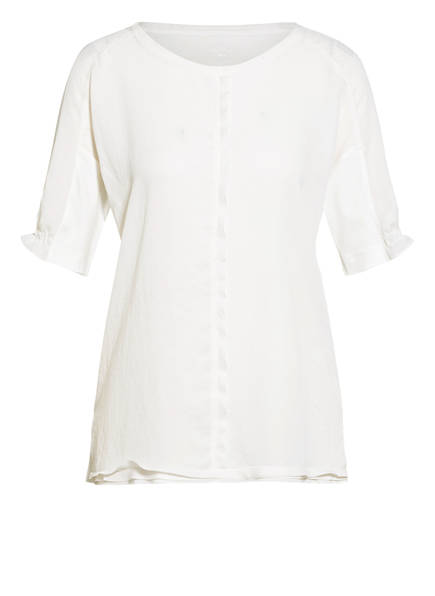 MARC CAIN Blusenshirt im Materialmix, Farbe: 110 OFF (Bild 1)