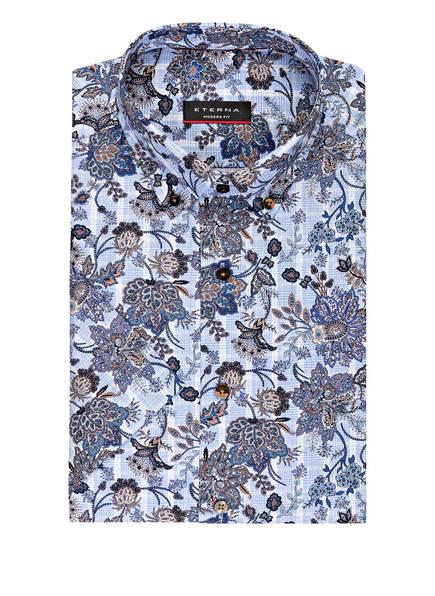 ETERNA Halbarm-Hemd Modern Fit , Farbe: HELLBLAU/ DUNKELBLAU (Bild 1)